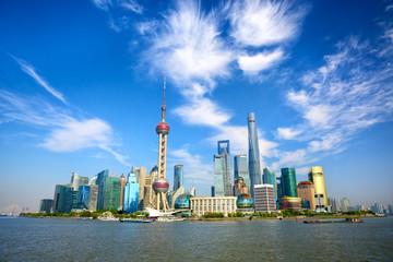 Aluminium Prints Shanghai Shanghai skyline with modern urban skyscrapers, China