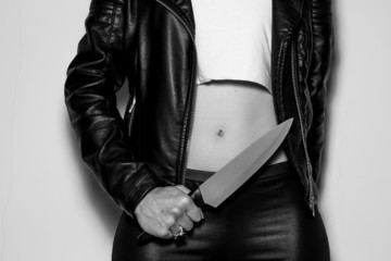 Bad girl with a knife