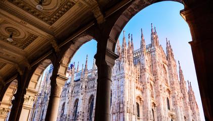 Duomo of Milan,Italy.Cathedral. Symbol.Beautiful sunset