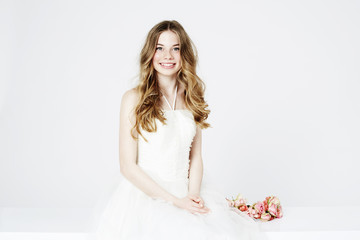 Portrait of teenage flower girl
