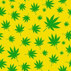 Abstract Cannabis Seamless Pattern Background Vector Illustratio