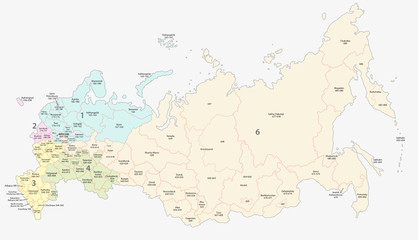 russian postcodes map