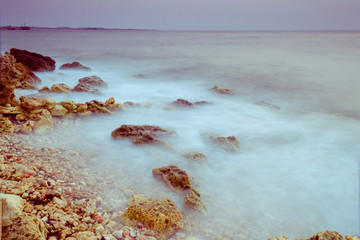 Spoed Fotobehang Oceanië Evening in bay of Sevastopol