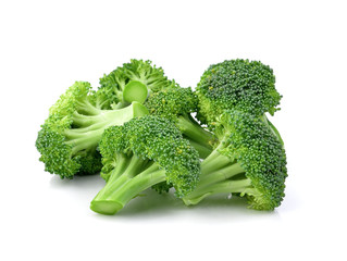 Broccoli isolated on a over  white background