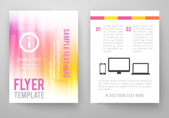 Set of abstract bright background for flyer, brochure template