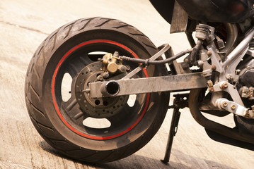 Leather motorcycle wheels