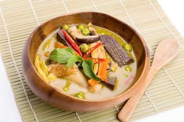 Thailand food Green curry Chicken