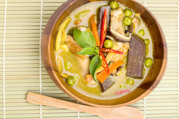 Thailand food Green curry Chicken