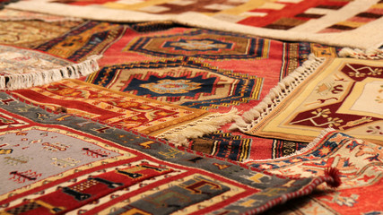 Photo sur Aluminium Moyen-Orient Traditional carpets from Middle East.