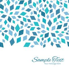 Vector blue mosaic texture horizontal border card template