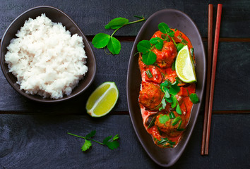 Thai hot   curry with fish