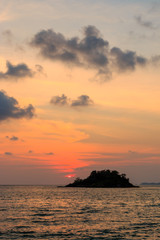 sea and Island in sunset time