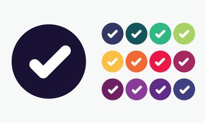 Vector set checkmark icon.