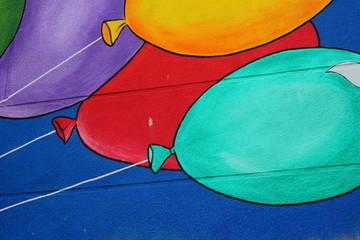 drawn balloons