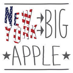 New York City t-shirt typography Printing design vector