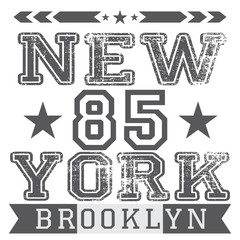 New York City retro vintage t-shirt design, vector