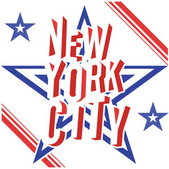 New York City grunge typography poster, t-shirt design, vector