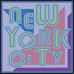 New York retro vintage typography poster, t-shirt design, vector