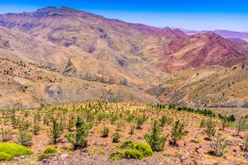 The Tizi n Tichka pass, Atlas mountains, Morocco