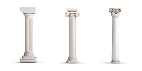 3 classic column orders Wall mural