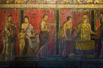 Dionysiac frieze, Villa of Mysteries, Pompeii
