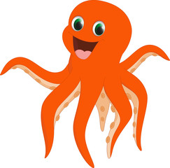 happy octopus cartoon