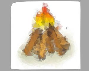 Poli bonfire illustration