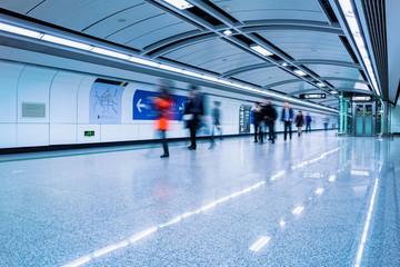 futuristic subway passage