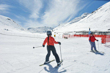 Two sisters skiing in Austria