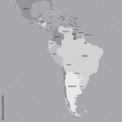 South America Map - Vector Map of South and Central America ...