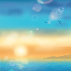 Wall Mural - Sunset Seaside Background