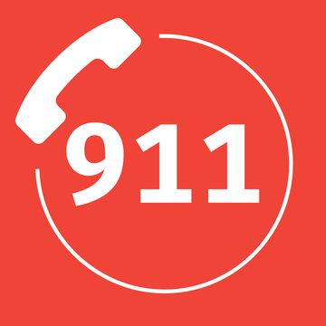 911 Emergency Call Number Logo