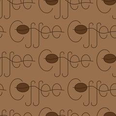 Coffee lettering pattern