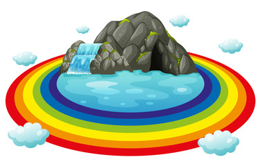 Cave and rainbow