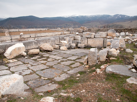 The ruins at Antioch in Pisidia in Turkey