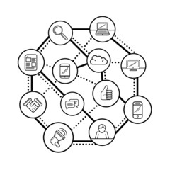 Social networking concept vector