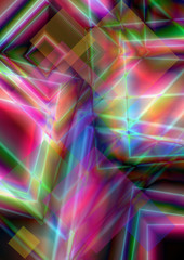 Bright background of intersecting multicolored squares