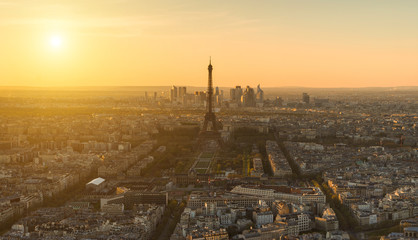 Sonnenuntergang in Paris