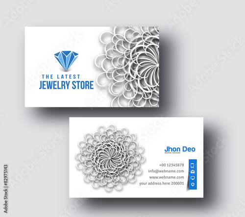 Jewellery shop business card set template stock image and royalty jewellery shop business card set template wajeb Choice Image