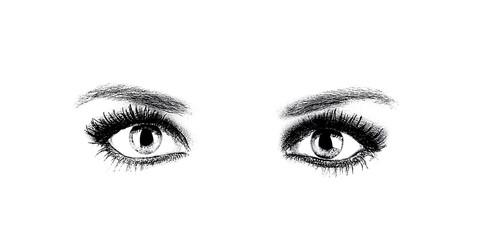 Beautiful young woman eyes
