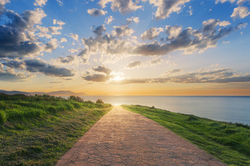 Path to the sea Wall mural