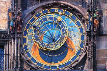 Acrylic Prints Prague Famous astronomical clock Orloj in Prague