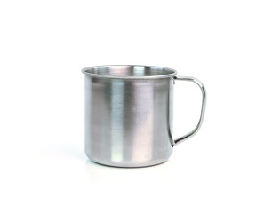 Steel Mug on white background