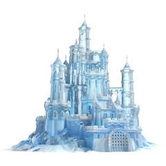 ice castle 3d illustration