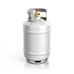 propane cylinder with compressed gas 3d illustration