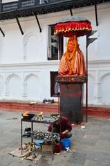 Hanuman Statue for pray at front of Hanuman Dhoka