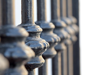 forged gate detail close up
