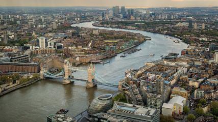 Tower Biridge with river Thames and London skyline