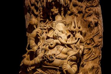 Ganesh carved wood