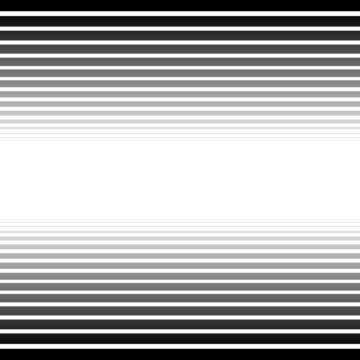 Black and white converging, fading lines abstract background. Ve